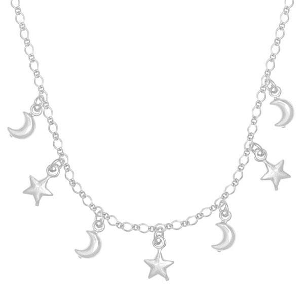 Chocker Luas e Estrelas Prata