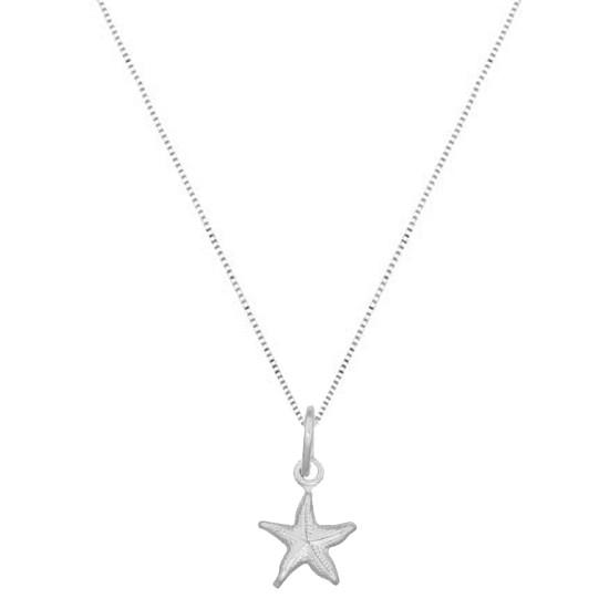 Colar Estrela Do Mar Pequena Prata