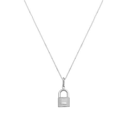 Colar Mini Cadeado Prata