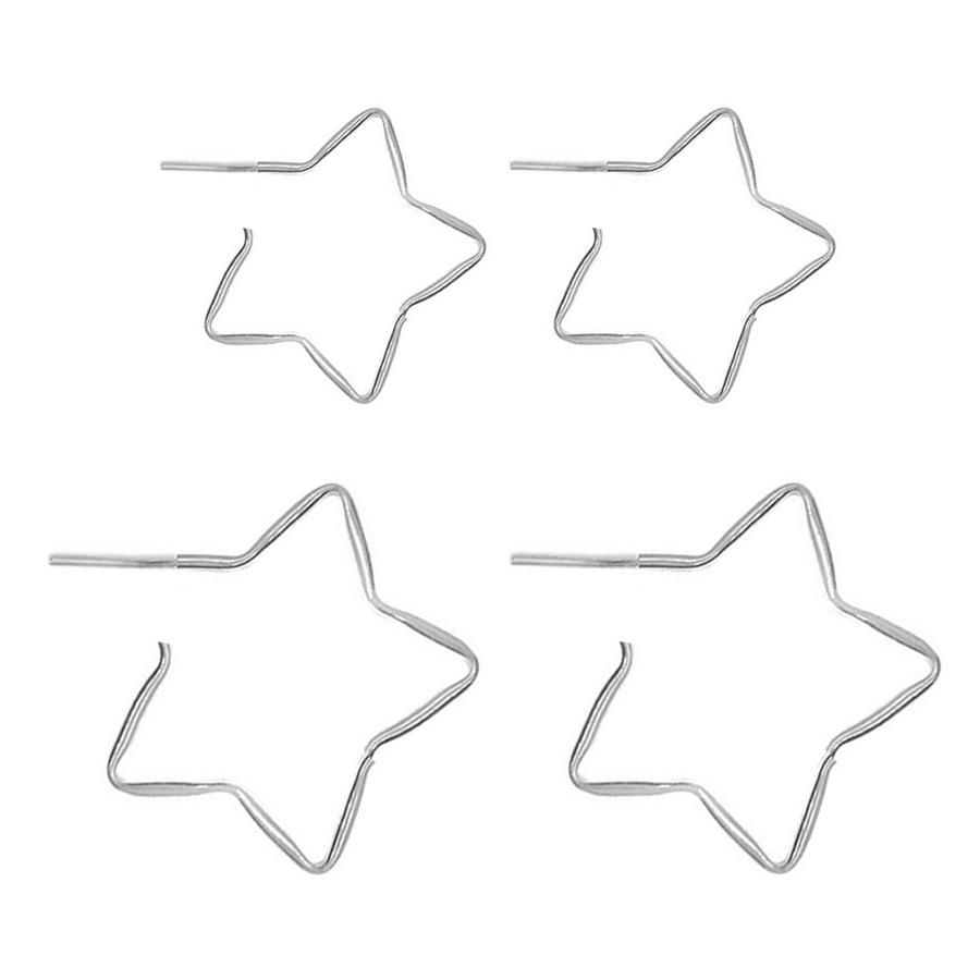 Dupla de Argola De Prata Estrela