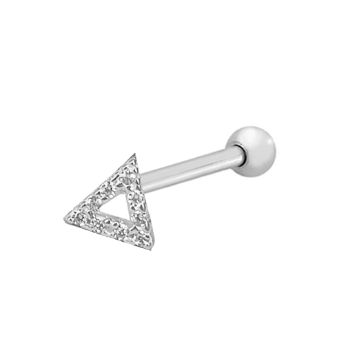 Piercing Tragus Triângulo Cravejado