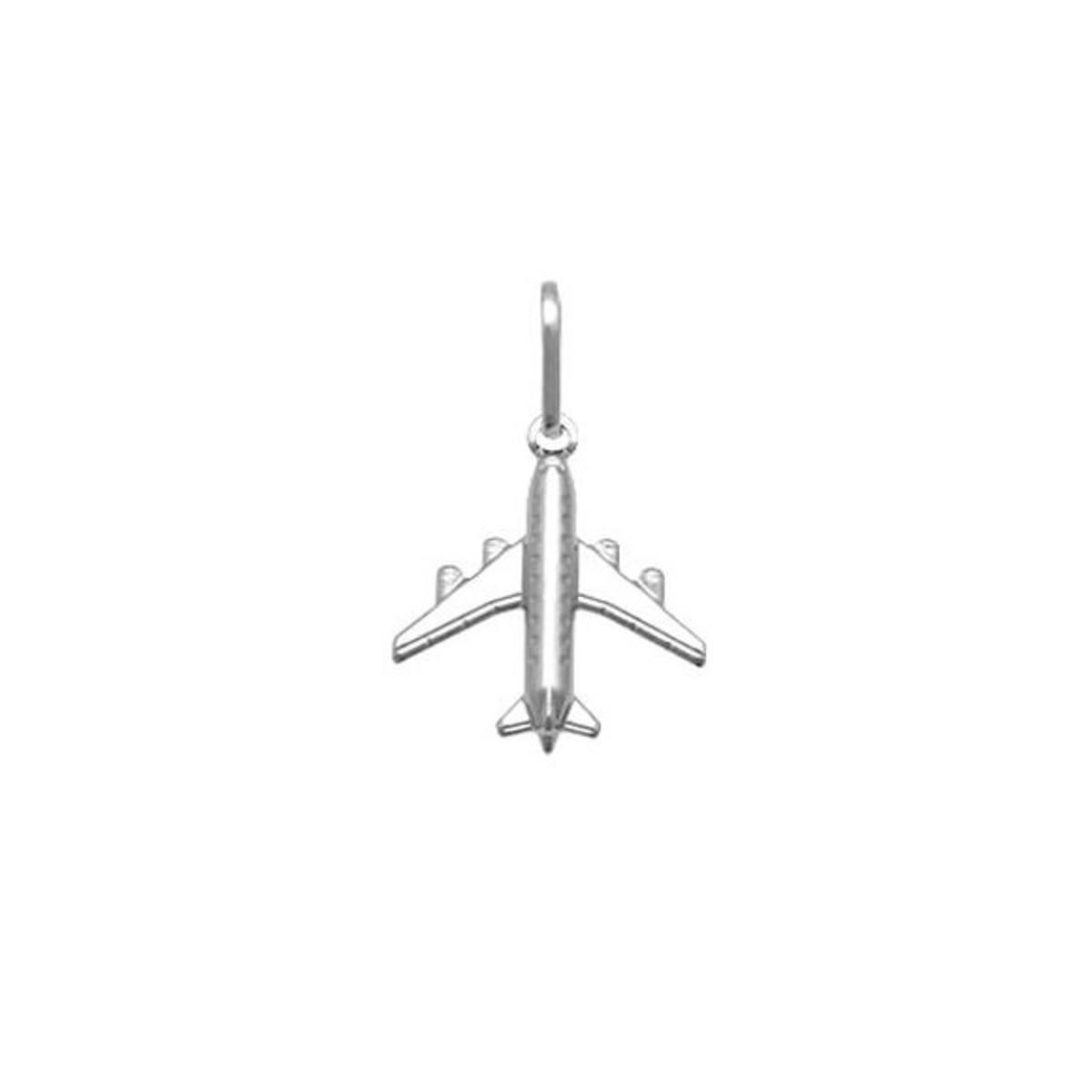Pingente Avião Prata