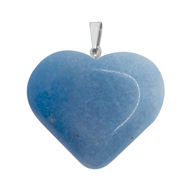 Pingente Coração Quatzo Azul