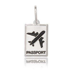 Pingente Passaporte Prata