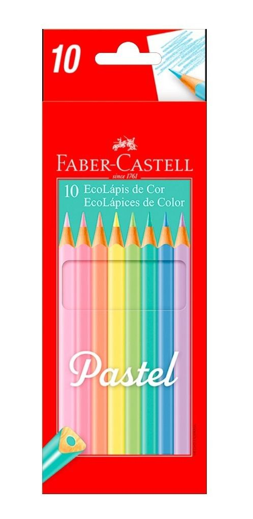 10 Ecolápis de cor Pastel Faber-Castell