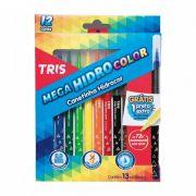 Canetinha Hidrocor 12 Cores + 1 Preta Extra Mega Hidro Color Tris