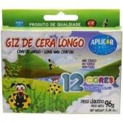 Giz de Cera Longo c/ 12 Cores