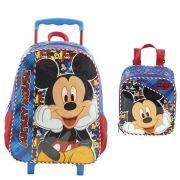 Kit Bolsa de carrinho e Lancheira Mickey Mouse