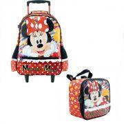 Kit Bolsa de carrinho e Lancheira Minnie Mouse