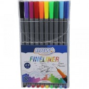Kit c/ 10 Canetas Fineliner 0.4mm BRW