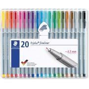 Kit c/ 20 Triplus Fineliner 0.3mm Staedtler