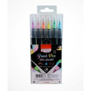 Kit c/ 6 Brush Pens Tons Pastel BRW
