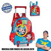 Kit Mochila c/ rodas e Lancheira Luccas Neto