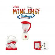 Linha Mini Chef Batedeira, Liquidificador ou Micro-ondas Xalingo