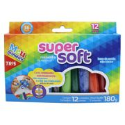 Massinha de modelar Super Soft Tris c/ 12 Unidades