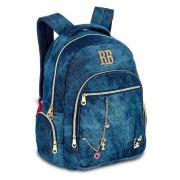 Mochila Jeans Clio Notebook Rebecca Bonbon 12262 Azul