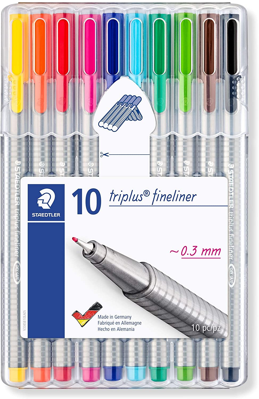 Kit c/ 10 Triplus Fineliner 0.3mm Staedtler