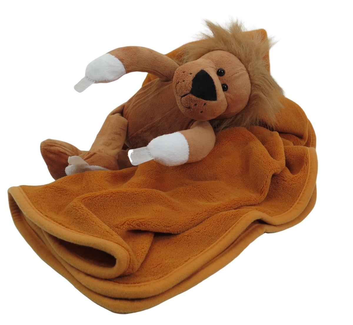 Bichinho De Pelúcia Animal Abraça Cobertor Anti-Alérgico