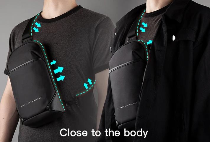 Bolsa Transversal Basic Design By Kingsons - à prova d'água- cód 1292