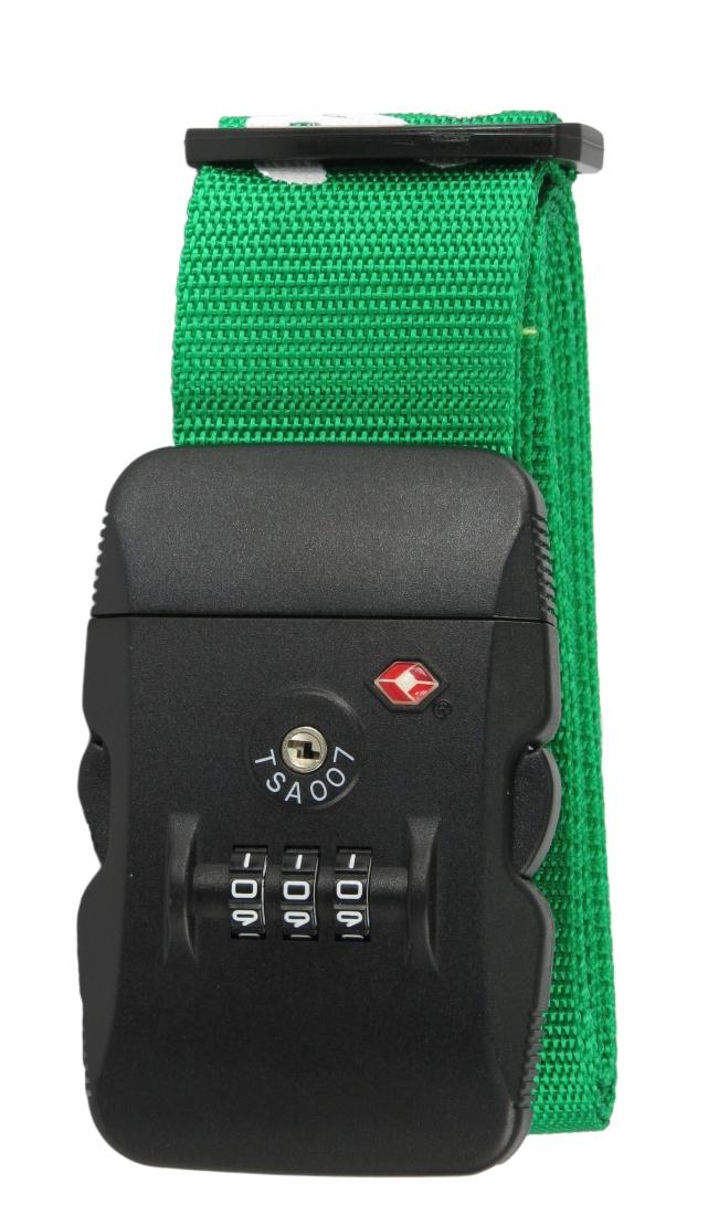 Cinta de Segurança para Mala com Cadeado TSA Malíssima Verde