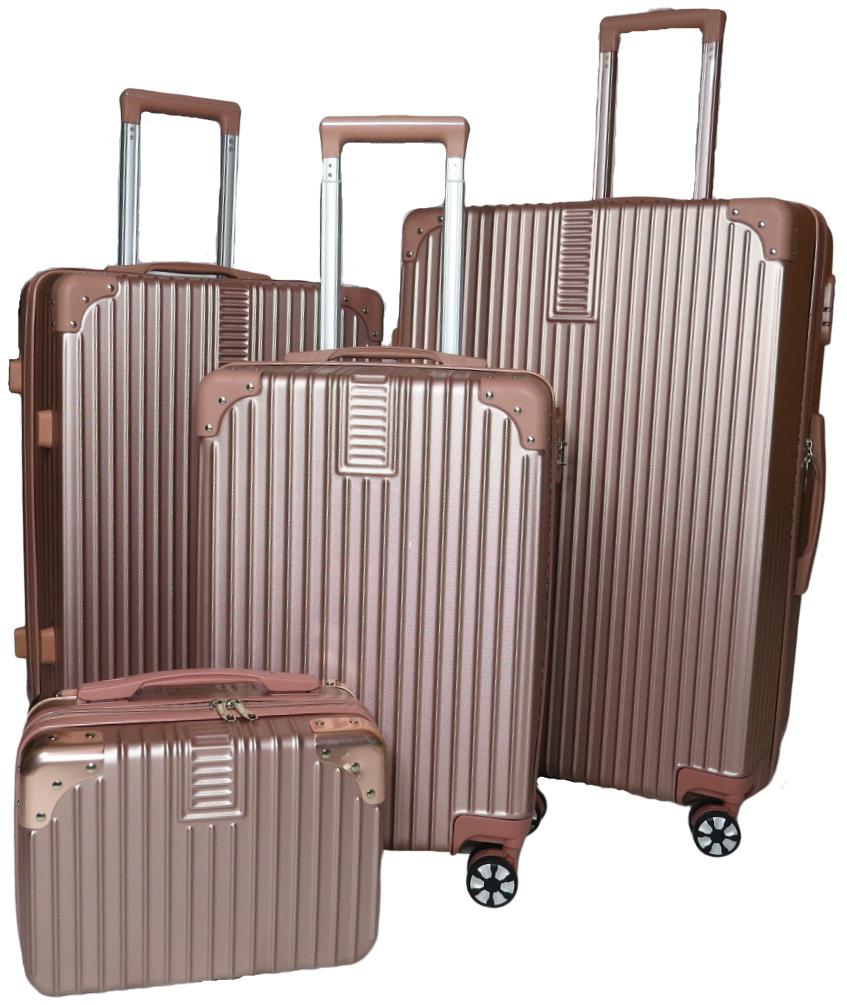 Conjunto com 3 malas de viagem P, M e G e Frasqueira Nova Iorque - várias cores