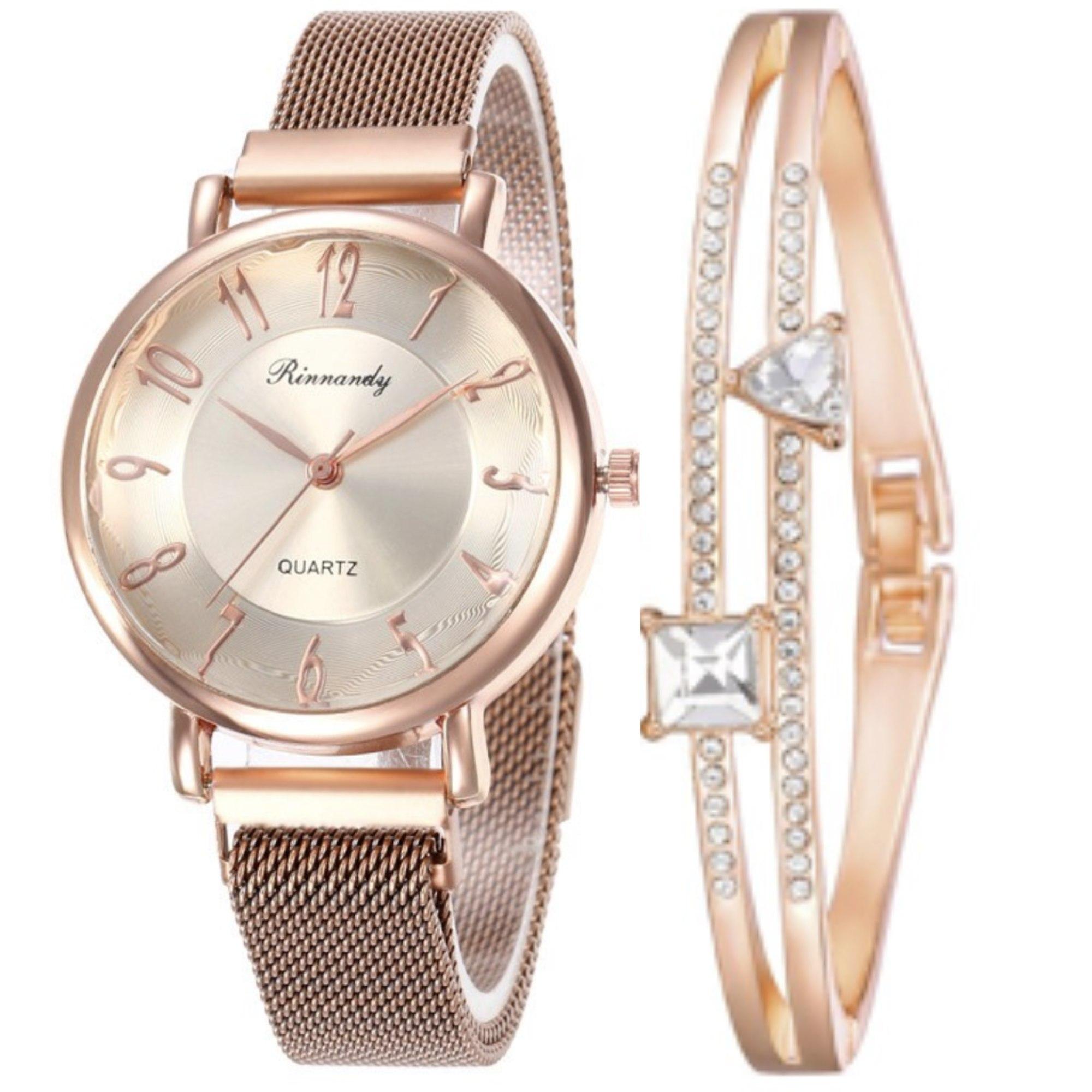 Kit com 1 Relógio Espanha + 1 Bracelete + Caixa Luxo