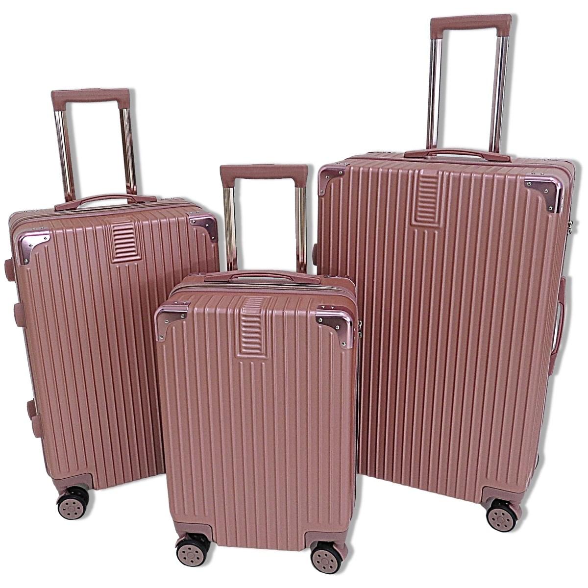 Kit com 3 Malas de Viagem P, M e G com Rodas Duplas e Cadeado Embutido - Nova Iorque