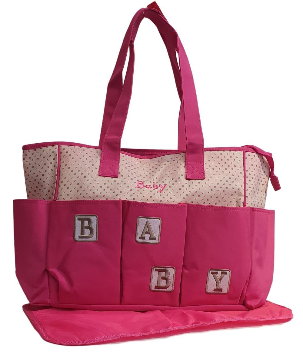 Kit Conjunto Bolsa Maternidade Baby Rosa + Trocador Baby - Promoção