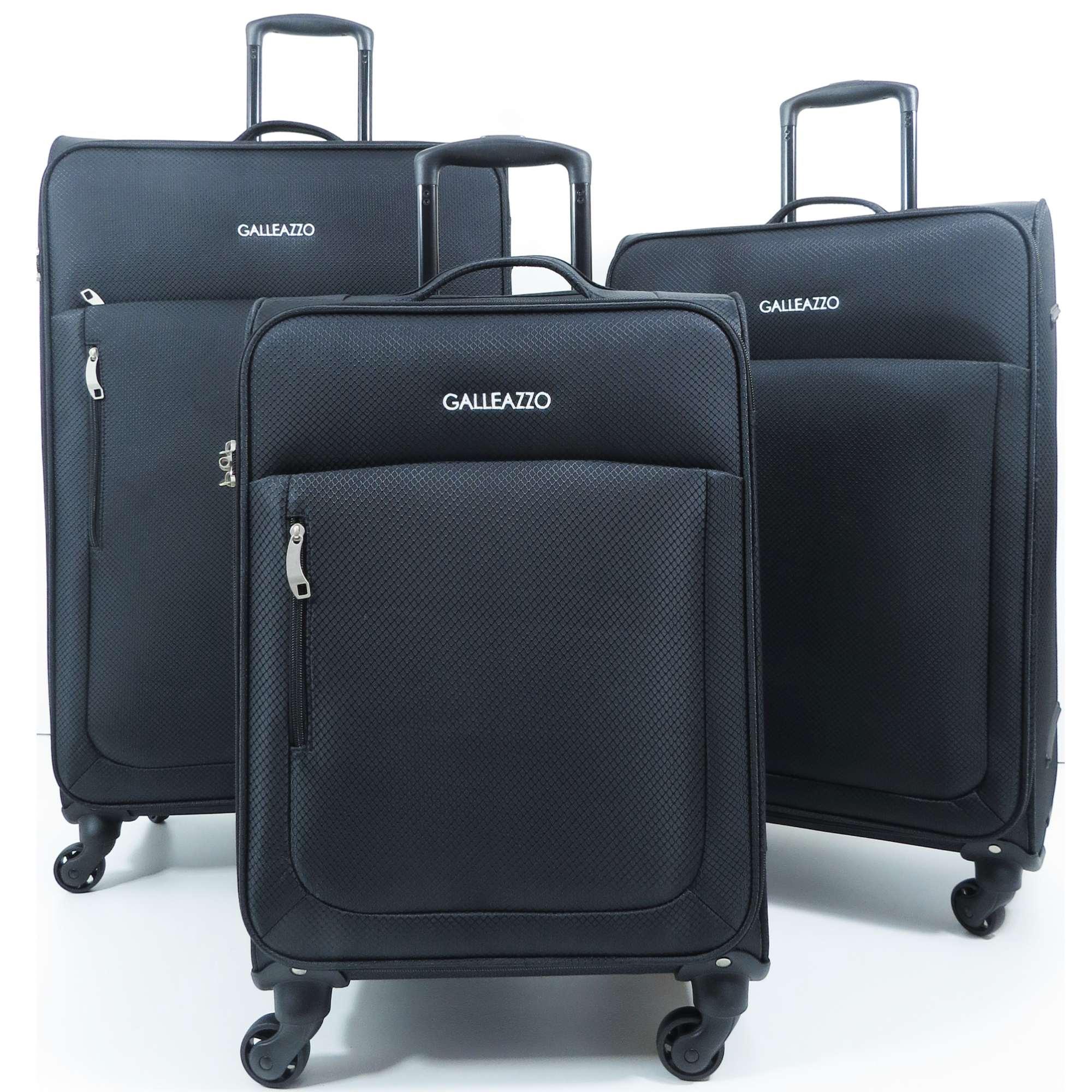 Kit Conjunto com 3 Malas de Viagem Super Leves Ultra Light com Cadeado TSA Internacional