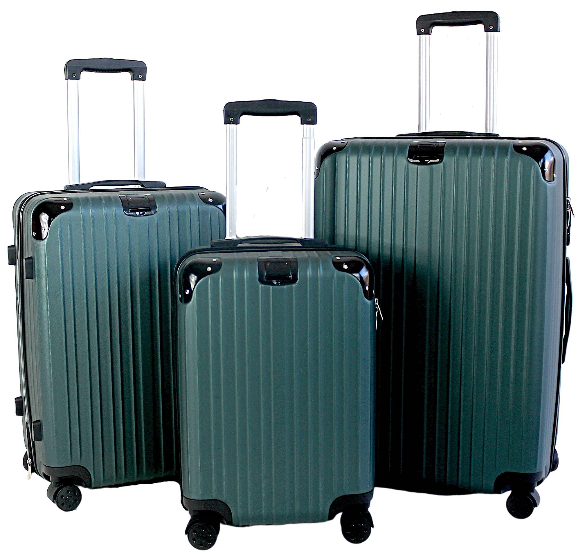 Kit conjunto viagem 3 malas P, M e G rígida ABS roda dupla 360° - Tókyo