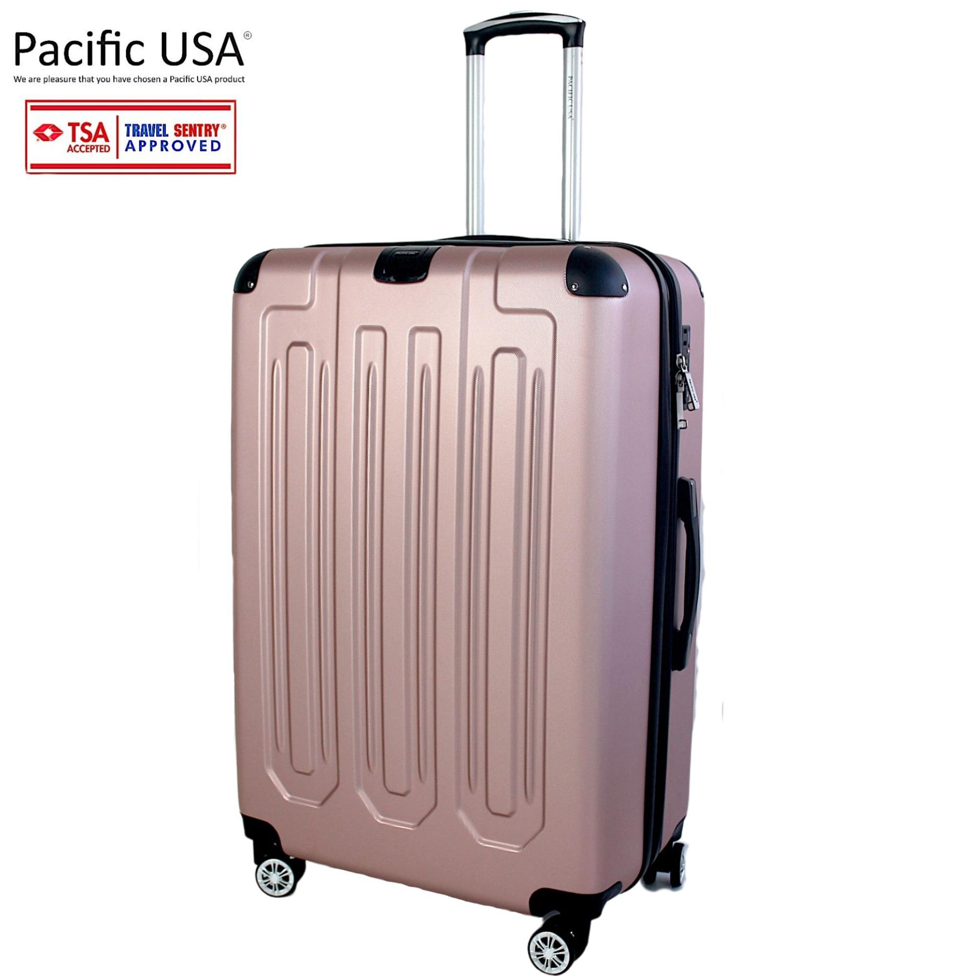 Mala Grande Pacific USA 8852 Com Zíper Duplo e Cadeado TSA