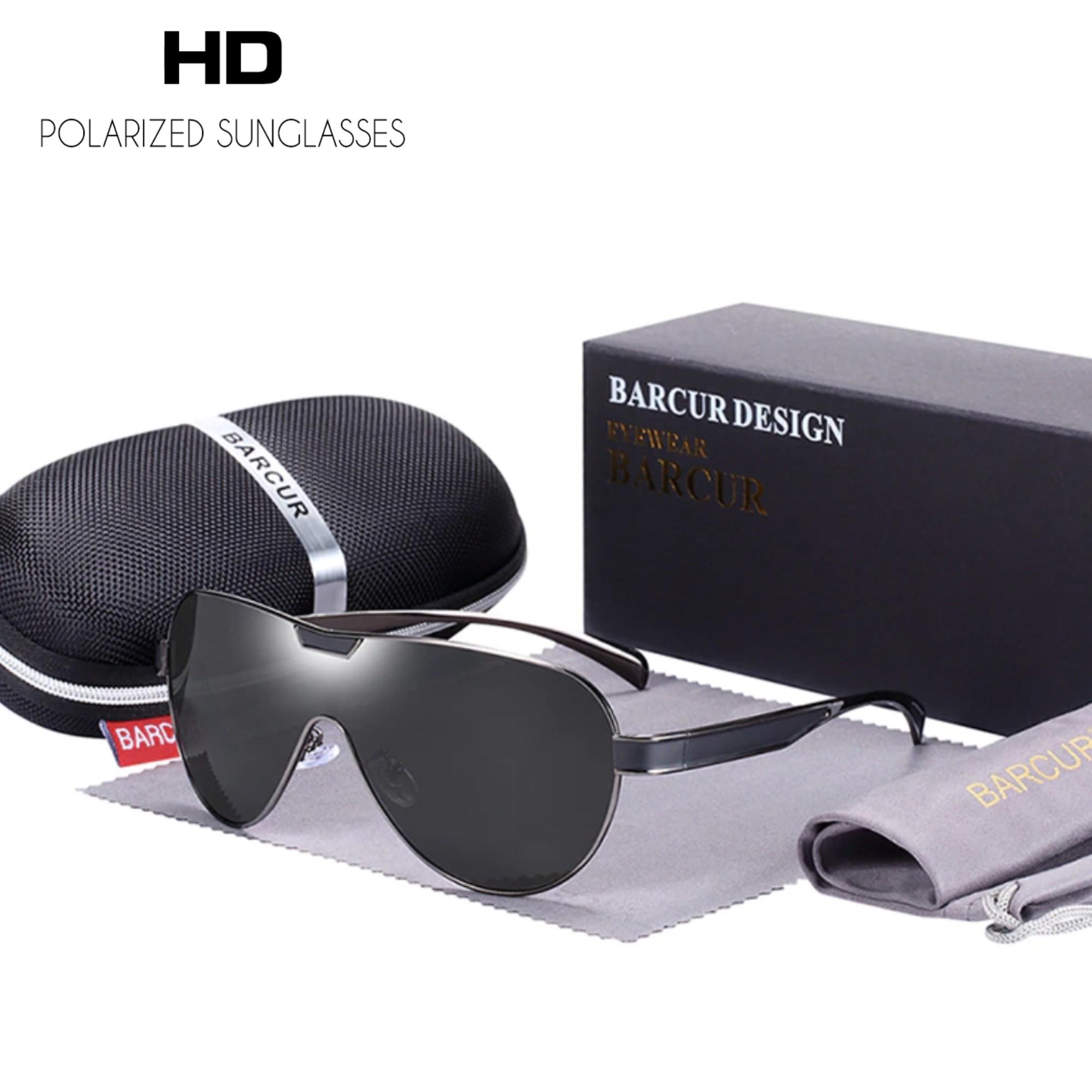Óculos de Sol Barcur 8227 Máscara com Lente Polarizada UV400