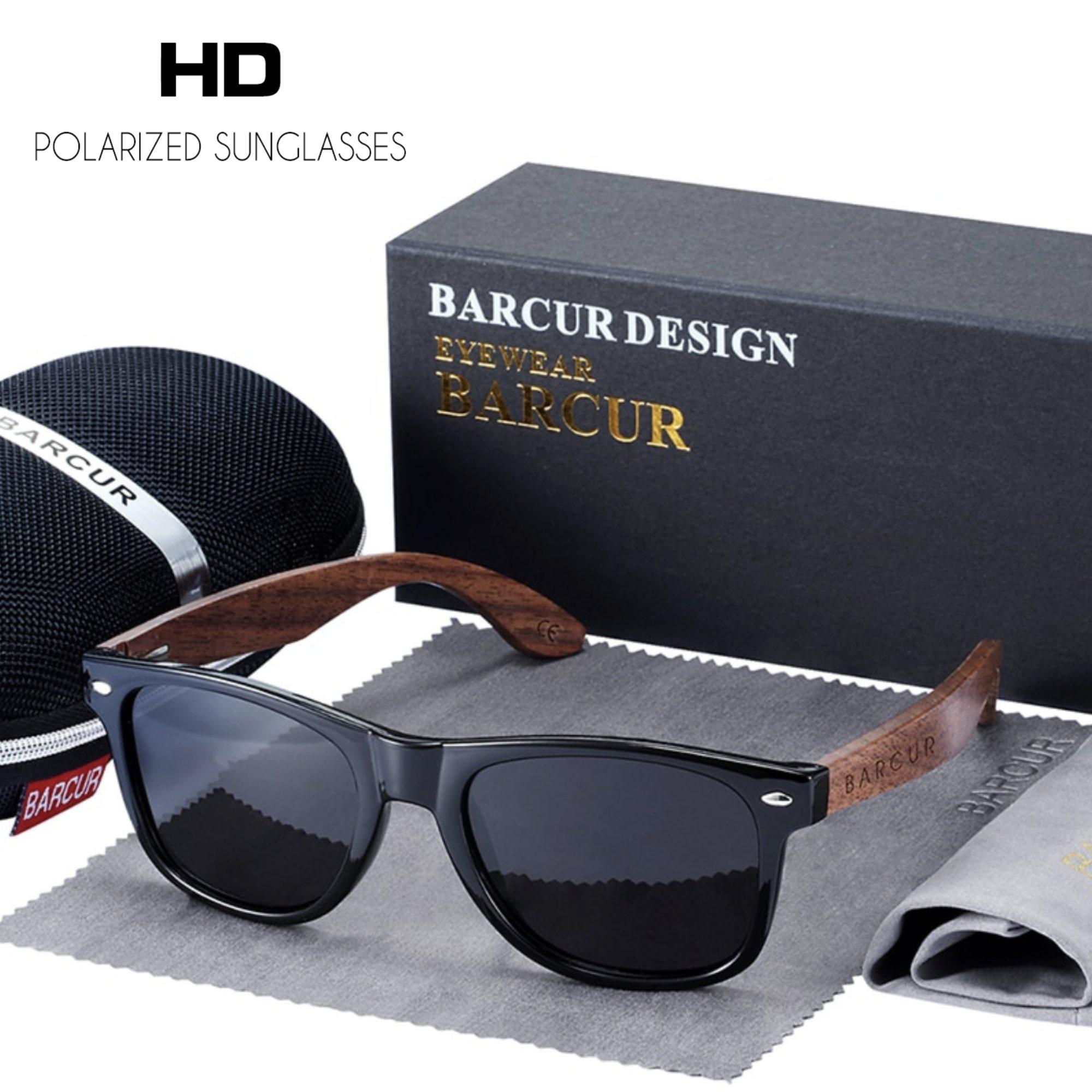 Óculos de Sol Barcur 8700 Bambu com Lente Polarizada UV400