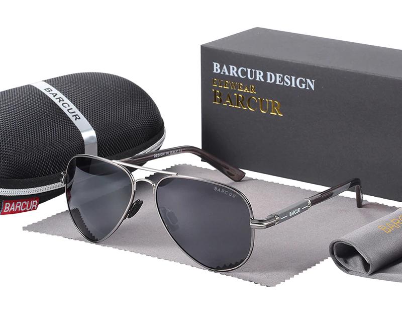 Óculos de Sol Barcur Masculino com Lente Polarizada UV400 - 8721