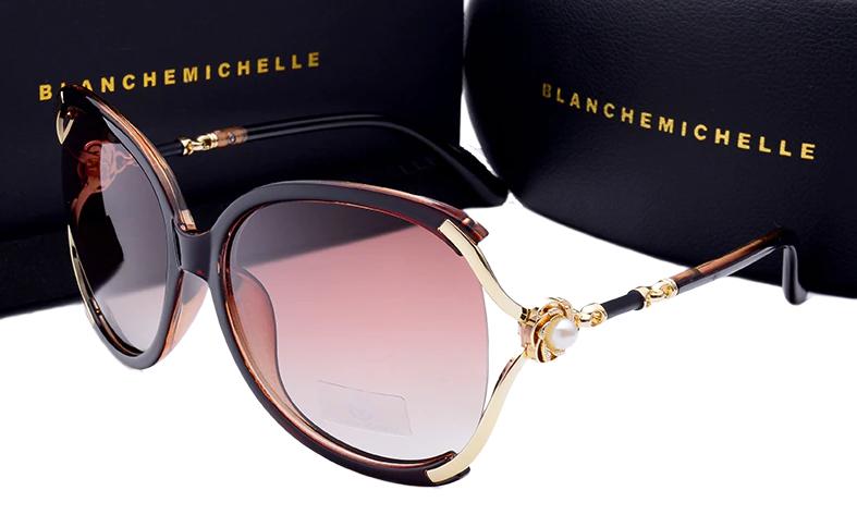 Óculos de Sol Feminino Lente Polarizada UV400 - Blanche  Michelle - BM5825