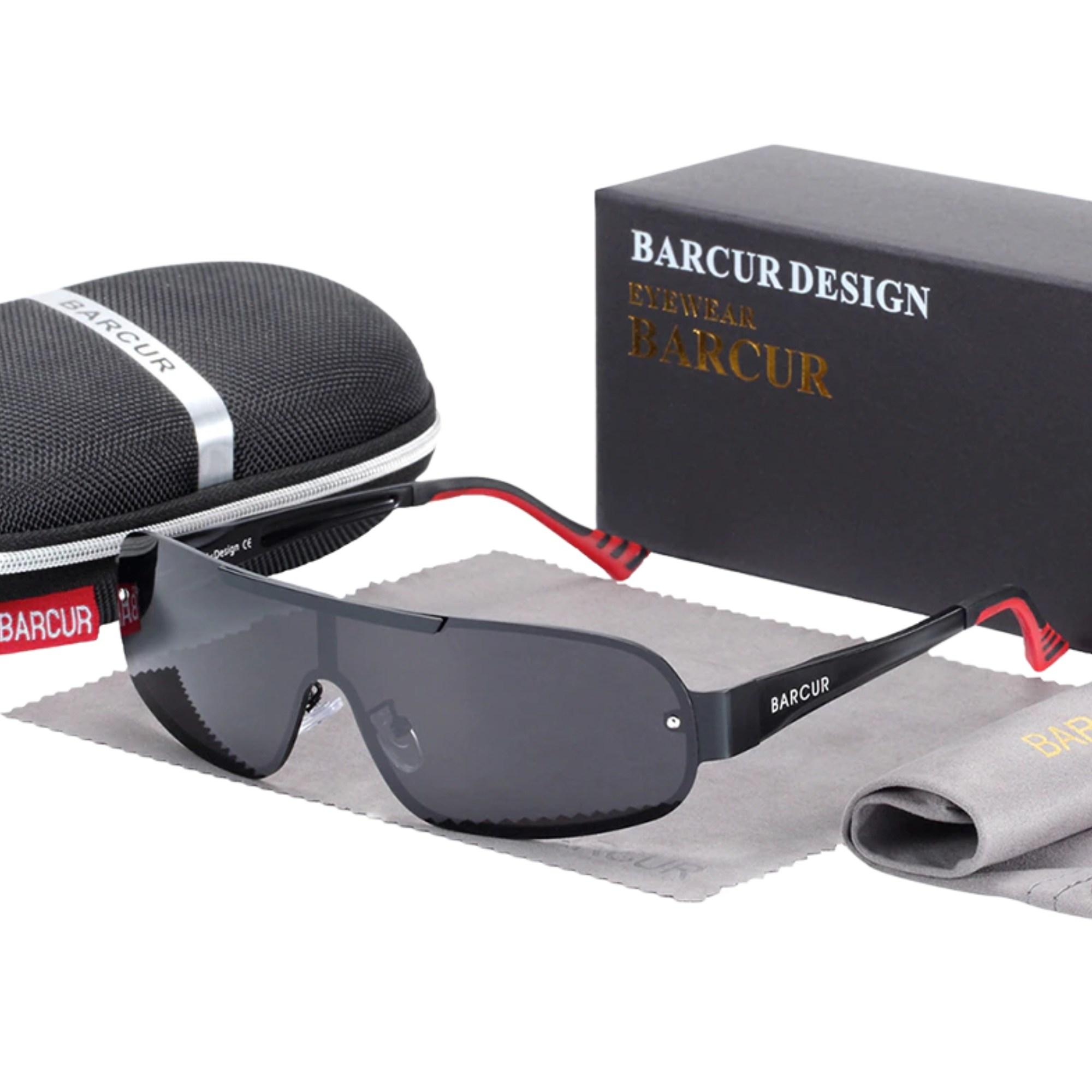 Óculos de Sol Unisex Espelhado Lente Polarizada UV400 - Importado Original Barcur