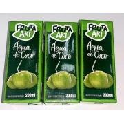 Água de coco 200 ml Fruta aki pack com 3 unidades !