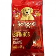 Alimento para cães bifinhos petisco sabor carne 65 g kit com 3