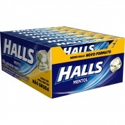 Balas Halls mentol caixa com 21 unid de 28 g