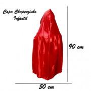 Capa Chapeuzinho Infantil Vermelha