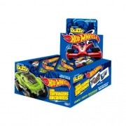 Hot Wheels Chicletes com figurinhas adesivas 100 unidades