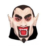 Máscara Látex Drácula Com Capuz