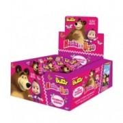 Masha e o Urso Chicletes com figurinhas adesivas 100 unidades