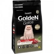 Ração Golden Carne Gatos Adultos ingredientes naturais 1 kg