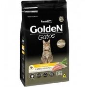 Ração Golden Frango Gatos Adultos ingredientes naturais 1 kg