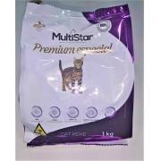 Ração para Gatos Multi Star Premium Especial Sabor peixe 1 kg