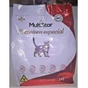 Ração para Gatos Sabor carne Multi Star Premium Especial 1 kg