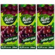 Suco Néctar De Uva Nutri 200 ml Pack 3 Unidades