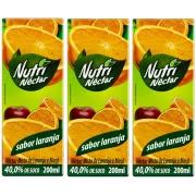 Suco Néctar Sabor Laranja Nutri 200 ml Pack 3 Unidades