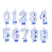 Vela De Aniversário Super Com Gliter Azul Do 0 Ao 9